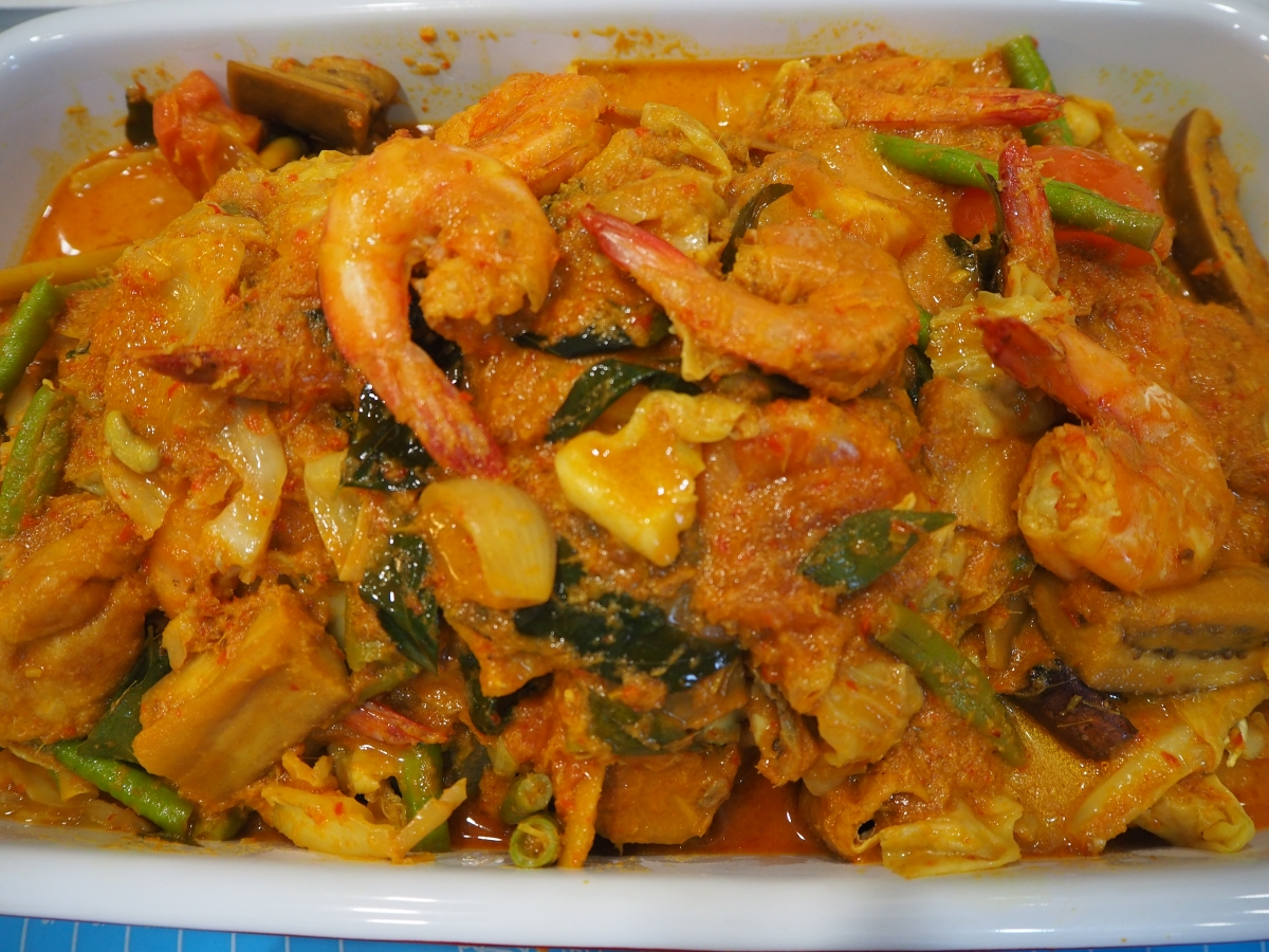 Curry Fish Head with Prawns