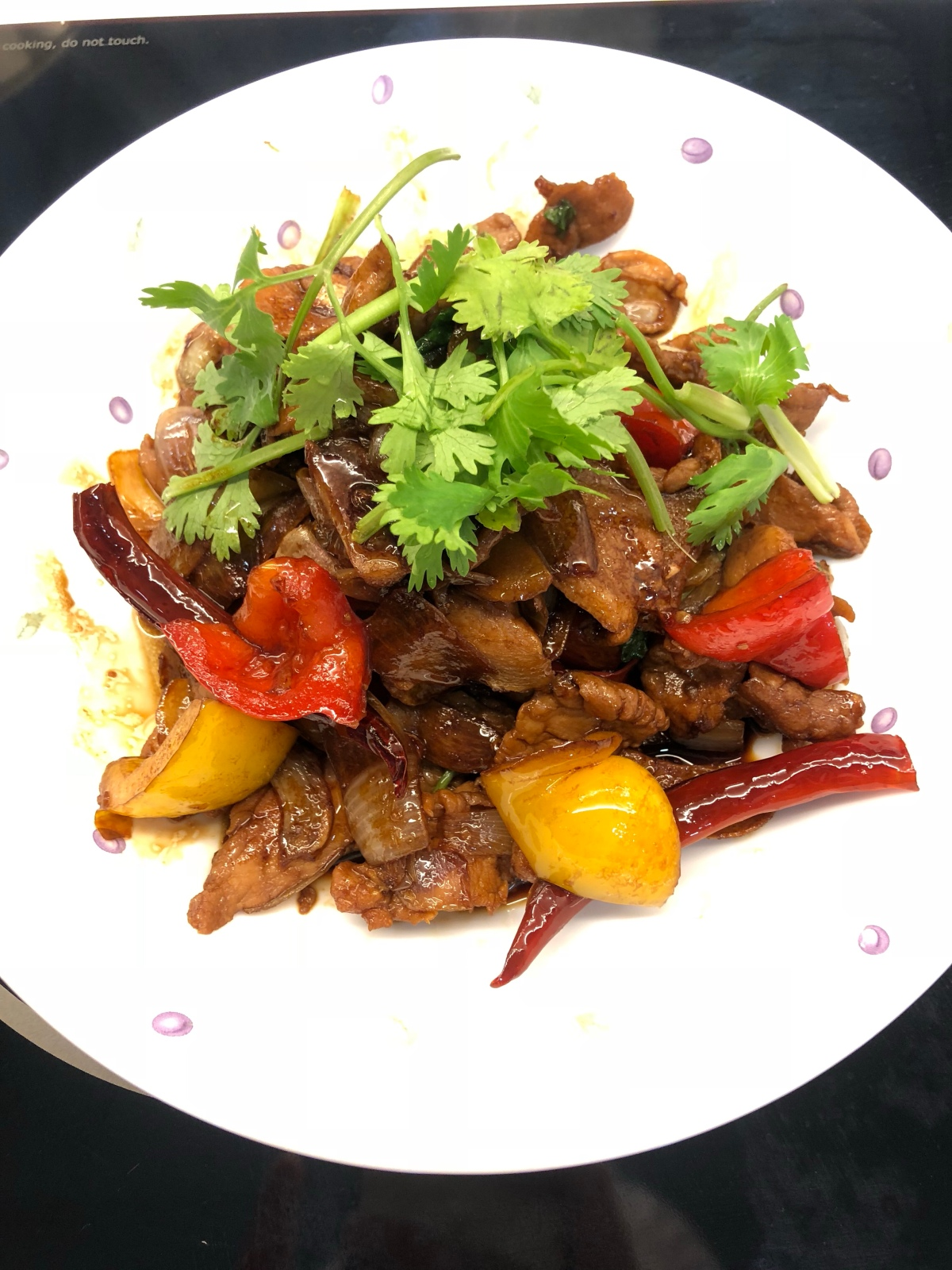 Chinese style Stir-fry Kung Po Sliced Pork