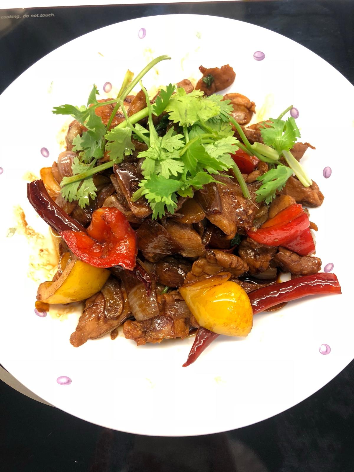 Chinese style Stir-fry Kung Po SlicedPork